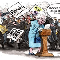 "The Queen has urged people to find ""common ground"" and to respect ""different points of view"". All the while, the country is obviously headed in the direction of division, anger and violence. It's not looking good. Evening Standard 25/1/2019"