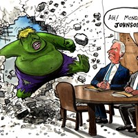 "Boris threatens to ""reject any delay offered"" in his meeting with Juncker and Barnier. He will simply run down the clock. Johnson compares himself to the Incredible Hulk – ""the madder Hulk gets, the stronger Hulk gets"". Evening Standard 16/9/2019"