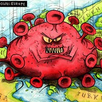 Extreme measures are required across Europe to combat the coronavirus pandemic. Lockdown! Nothing like it since wartime. Or maybe the plague. He has us in his nasty little grip. www.encompass-europe.com 25/3/2020