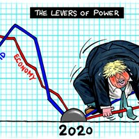 1/3 of UK employers expect to cut jobs by October, according to a survey, threatening V-shaped recovery. Meanwhile, covid-19 cases are on the rise again. Johnson looks hostage to events. He didn't want this, he wanted to pull the levers of power at his leisure. Evening Standard 10/8/2020